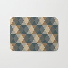 Caffeination Geometric Hexagonal Repeat Pattern Bath Mat