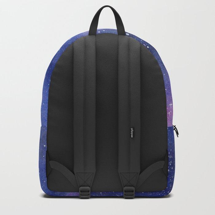 Galaxy Wolf Howling Rainbow Backpack