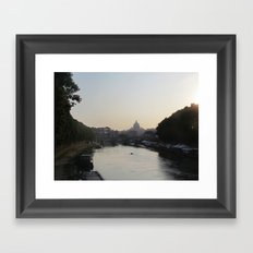 The Vatican from the Tiber River Framed Art Print
