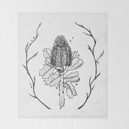 Banksia Illustration Throw Blanket