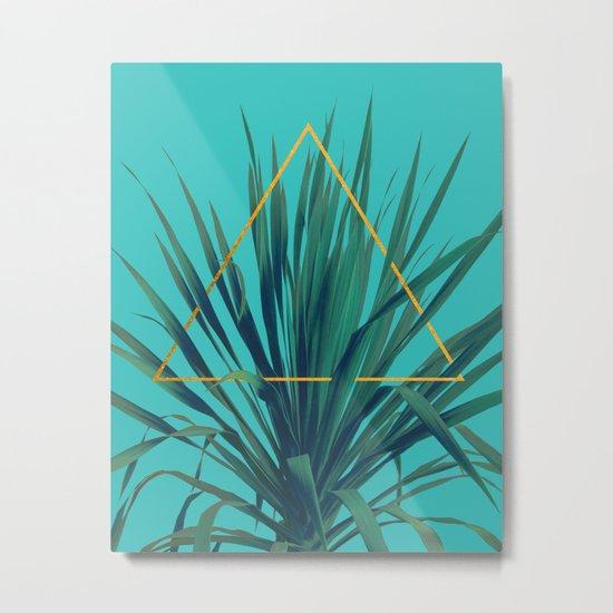 Geometric Fountain Metal Print