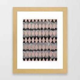 Geometric Diamond Glam #1 #geo #decor #art #society6 Framed Art Print