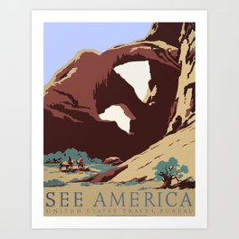 See America National Park Poster Art Print