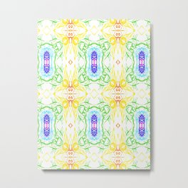 Seven colors  of chakras and rainbow Metal Print