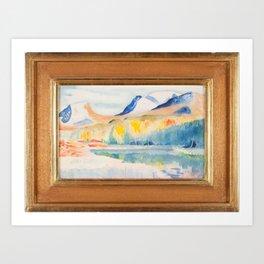 Lapporten autumn, Isaac Grunewald, (1889-1946) impressionist Art Print