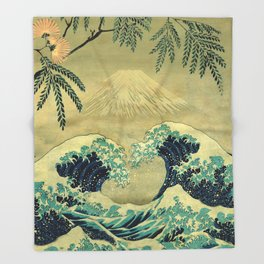 The Great Blue Embrace at Yama Throw Blanket