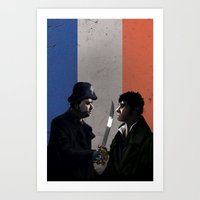 les miserables Art Prints featuring Les Miserables by Tori Poole