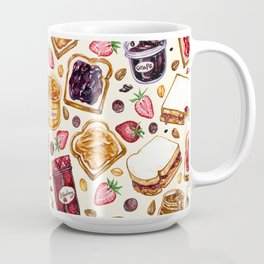 Peanut Butter and Jelly Watercolor Coffee Mug
