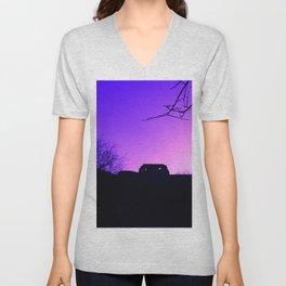 Purple Haze over Stafford Castle Unisex V-Neck