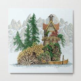 MY ISLAND RETREAT BEYOND MOUNT SHUKSAN Metal Print