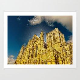 York Minster special effect Art Print