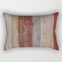 Decorative wood wall Rectangular Pillow