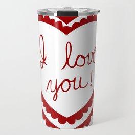I love you heart Travel Mug