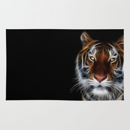 Tiger on black Rug