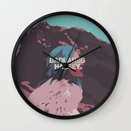 Badlands Halsey Wall Clock