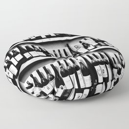 Wine Bottles in Black And White #decor #society6 #buyart Floor Pillow