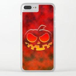Screaming Pumpkin Clear iPhone Case