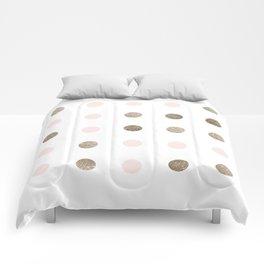 Blush Pink Modern Dots Comforters
