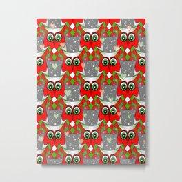 Festive Owl Metal Print