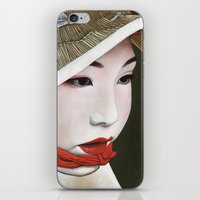 geisha iPhone & iPod Skins featuring Geisha by Andrea Maiorana