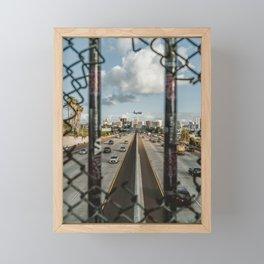 San Diegoand Skyline and the Freeway Framed Mini Art Print
