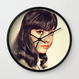 Anna Karina, Vintage Actress Wall Clock