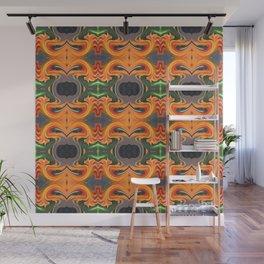 Summer Orange Abstract Wall Mural
