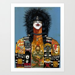 Portrait of Nikki Sixx Art Print