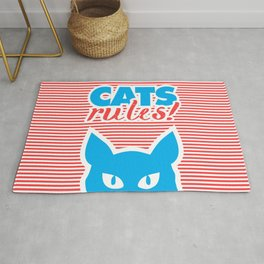 Cats Rules, cat poster, cat t-shirt, Rug