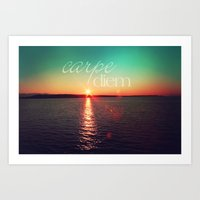 carpe diem Art Prints featuring carpe diem by Sylvia Cook Photography