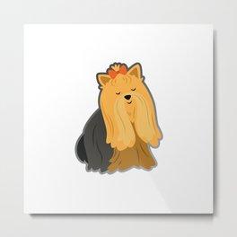Cartoon Yorkshire Terrier Metal Print