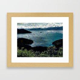 Grungy Beach Framed Art Print