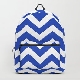 Cerulean blue - blue color - Zigzag Chevron Pattern Backpack