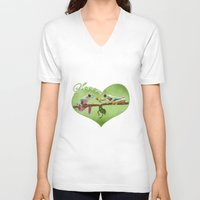 lovers V-neck T-shirts featuring Lovers by Ivan Pawluk