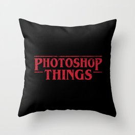 Photoshop Things Throw Pillow