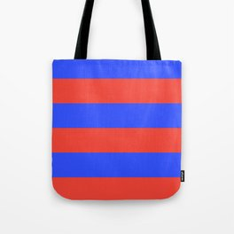 Even Horizontal Stripes, Blue and Red, XL Tote Bag
