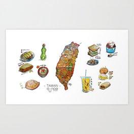 TAIWAN FOOD MAP Art Print