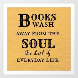 Books Wash Away Art Print