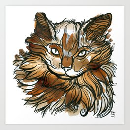 Kitea Cat Art Print