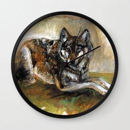 Carpathian wolf realistic (c) 2017 Wall Clock