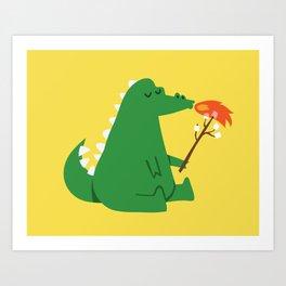 Dragon and Marshmallow Art Print