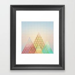 Geometric Christmas Trees 2 Framed Art Print