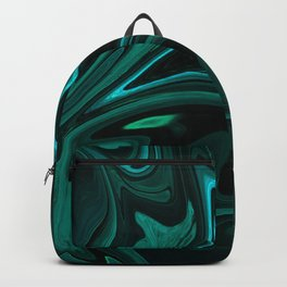 Teal Liquefy Pattern Backpack