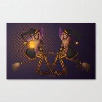 hocus pocus Canvas Prints featuring Hocus Pocus by Liara K Crane