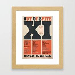 Out Of Spite XI Framed Art Print