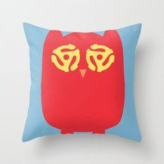Owl 45s Throw Pillow