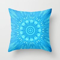 turquoise Throw Pillows featuring turquoisE Mandala Expolosion by 2sweet4words Designs