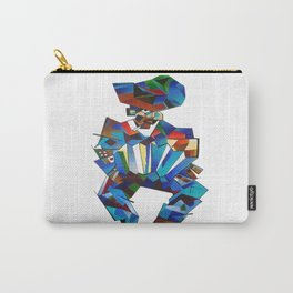 Accordion Player In Cubist Style Carry-All Pouch