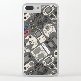 Video Game Controllers in True Colors Clear iPhone Case