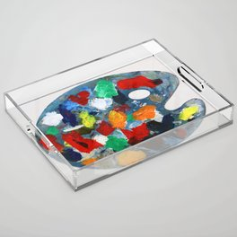 The Artist's Palette Acrylic Tray